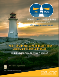 Conference Program Cover - French